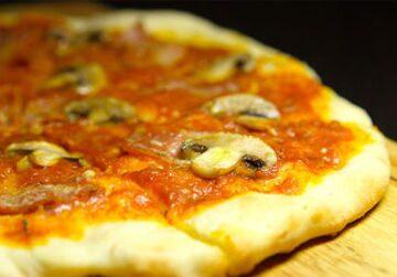Пицца с ветчиной и шампиньонами – кулинарный рецепт